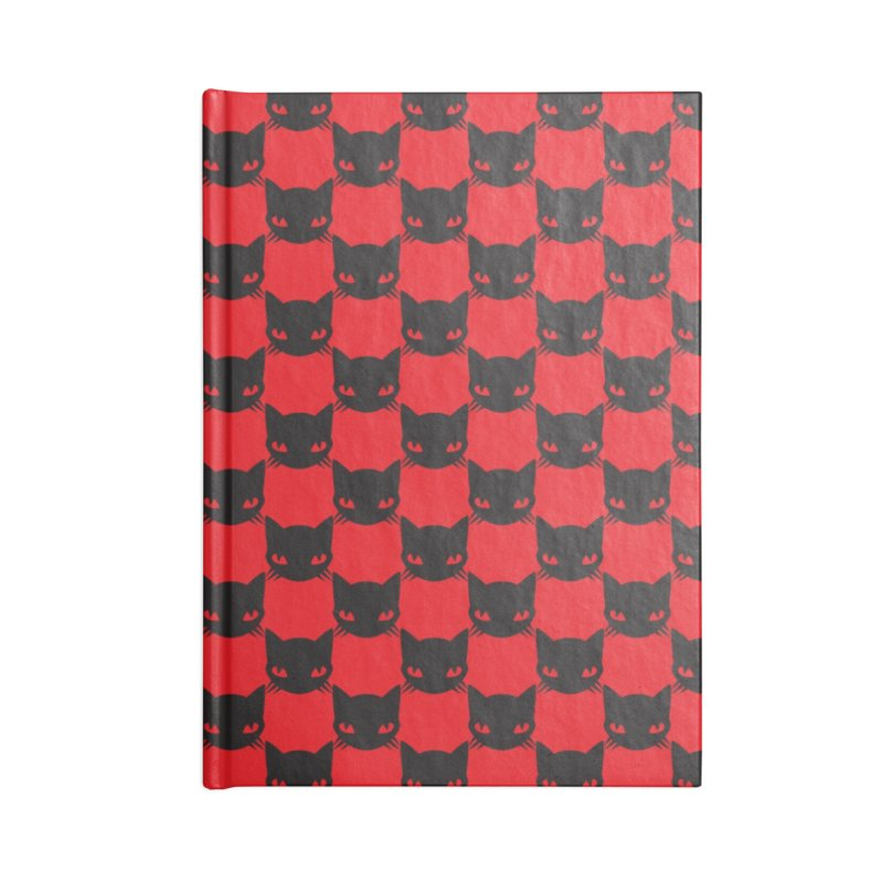 #KITTYCHEX RED/BLACK Accessories Lined Journal Notebook by Emily the Strange OFFICIAL