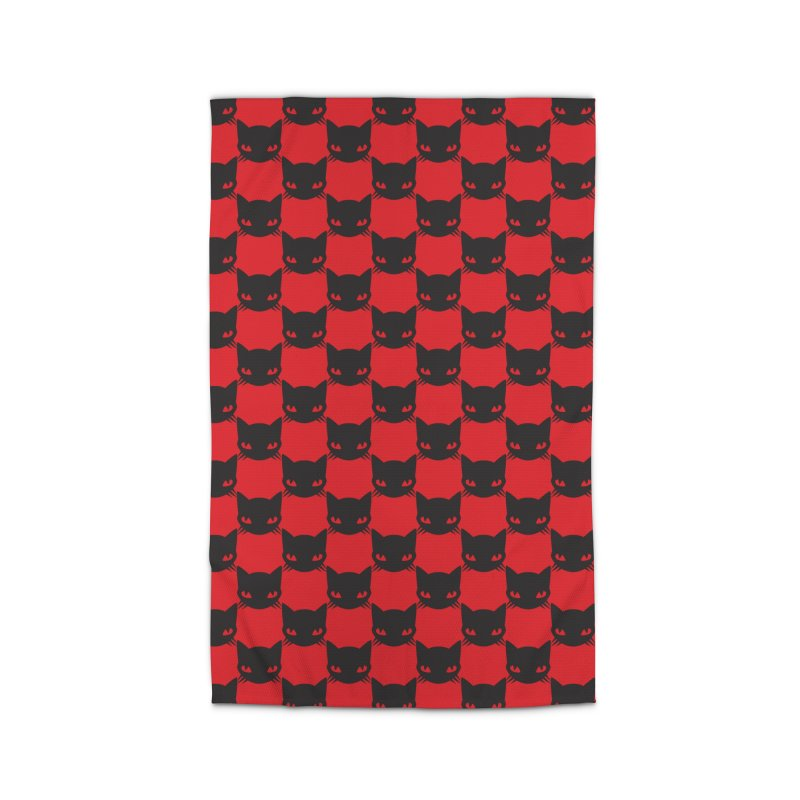 #KITTYCHEX RED/BLACK Home Rug by Emily the Strange OFFICIAL