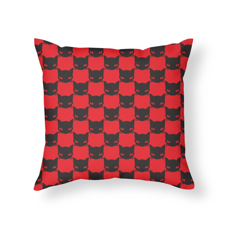 #KITTYCHEX RED/BLACK Home Throw Pillow by Emily the Strange OFFICIAL