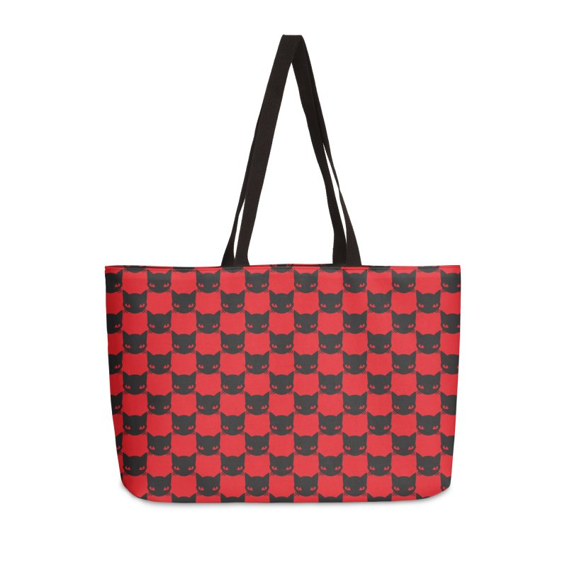 #KITTYCHEX RED/BLACK Accessories Weekender Bag Bag by Emily the Strange OFFICIAL