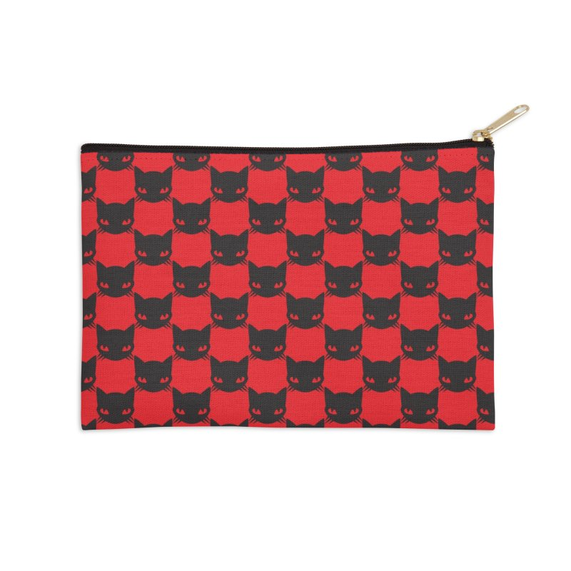 #KITTYCHEX RED/BLACK Accessories Zip Pouch by Emily the Strange OFFICIAL