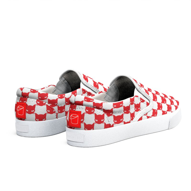 #KITTYCHEX RED/WHITE Men's Shoes by Emily the Strange Official