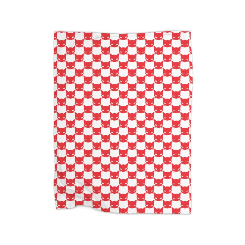 #KITTYCHEX RED/WHITE Home Fleece Blanket Blanket by Emily the Strange OFFICIAL