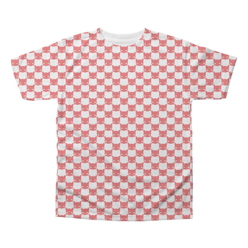 #KITTYCHEX RED/WHITE Men's Triblend All Over Print by Emily the Strange OFFICIAL