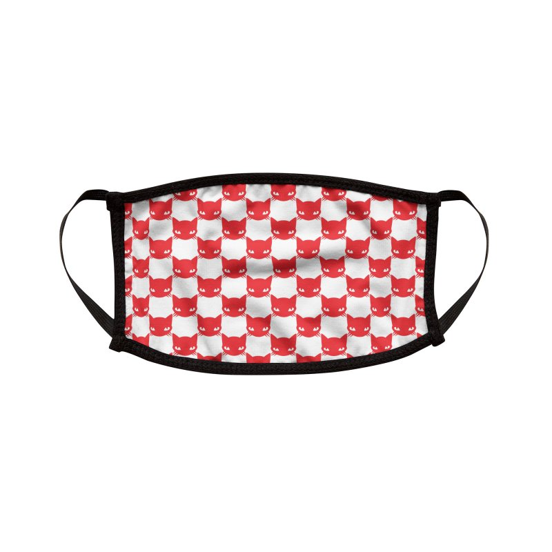 #KITTYCHEX RED/WHITE Accessories Face Mask by Emily the Strange Official