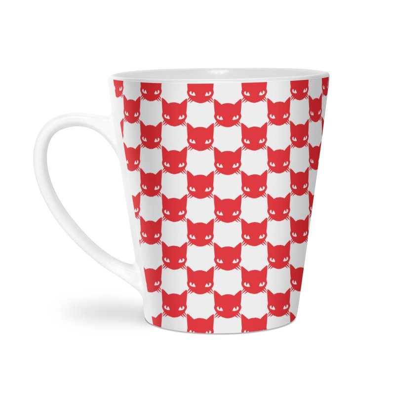 #KITTYCHEX RED/WHITE Accessories Latte Mug by Emily the Strange OFFICIAL