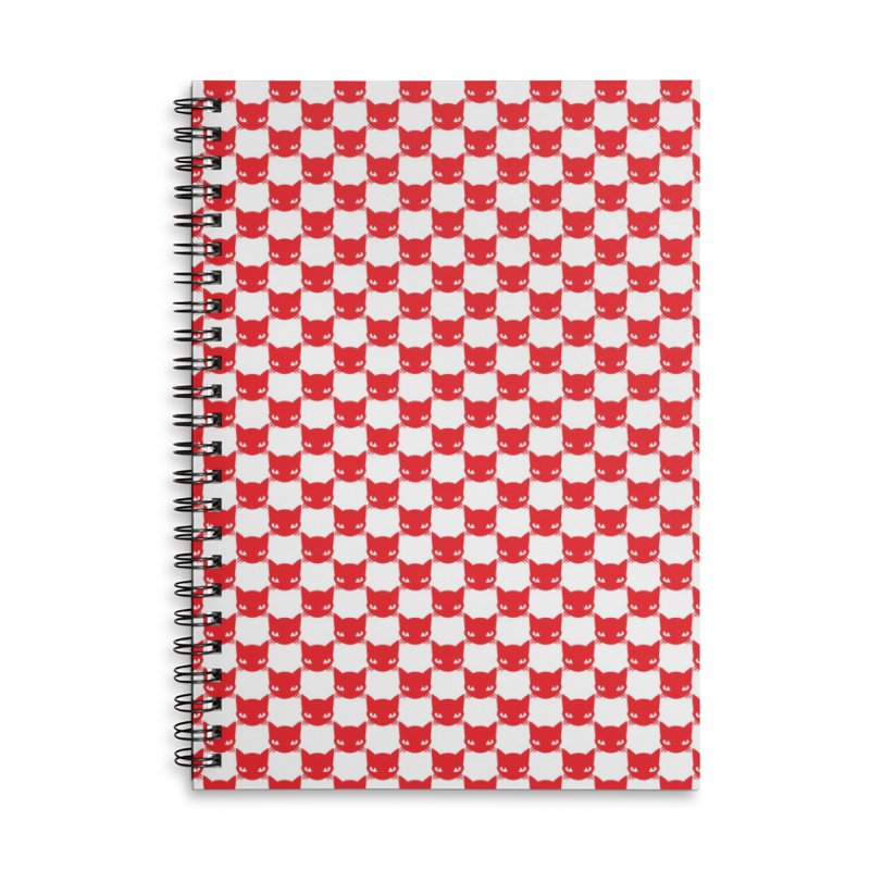 #KITTYCHEX RED/WHITE Accessories Lined Spiral Notebook by Emily the Strange OFFICIAL