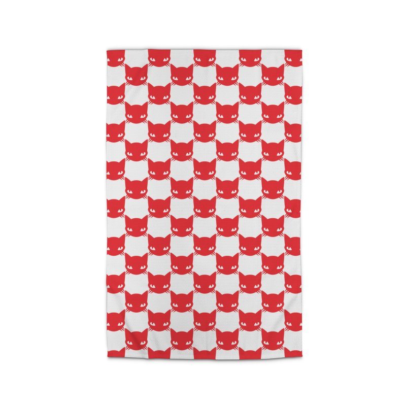 #KITTYCHEX RED/WHITE Home Rug by Emily the Strange OFFICIAL