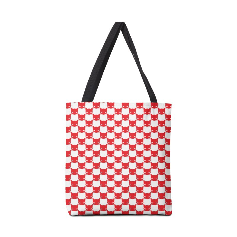 #KITTYCHEX RED/WHITE Accessories Tote Bag Bag by Emily the Strange OFFICIAL