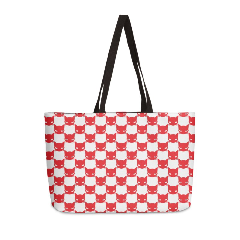 #KITTYCHEX RED/WHITE Accessories Weekender Bag Bag by Emily the Strange OFFICIAL