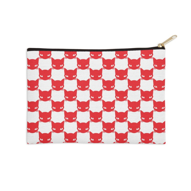 #KITTYCHEX RED/WHITE Accessories Zip Pouch by Emily the Strange OFFICIAL