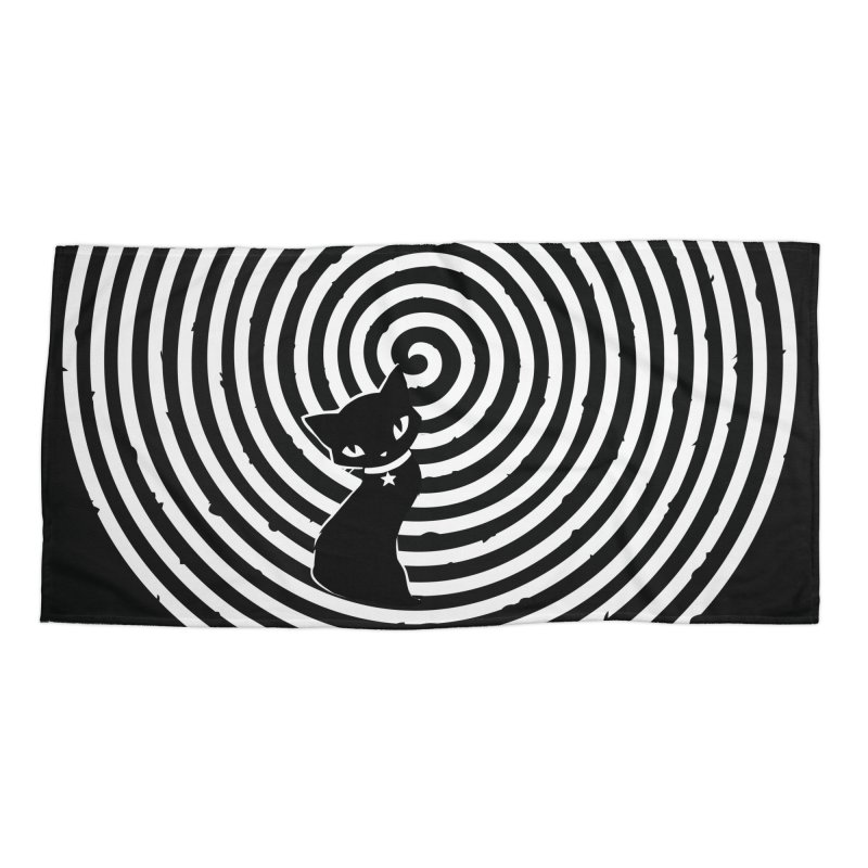 HYPNO KITTY Accessories Beach Towel by Emily the Strange OFFICIAL