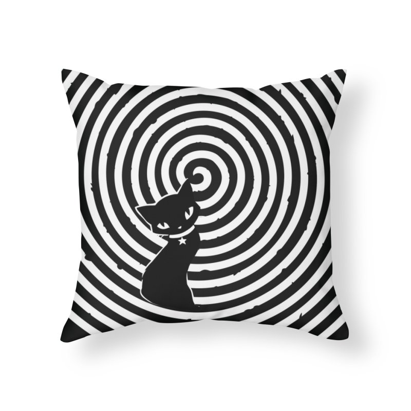HYPNO KITTY Home Throw Pillow by Emily the Strange Official