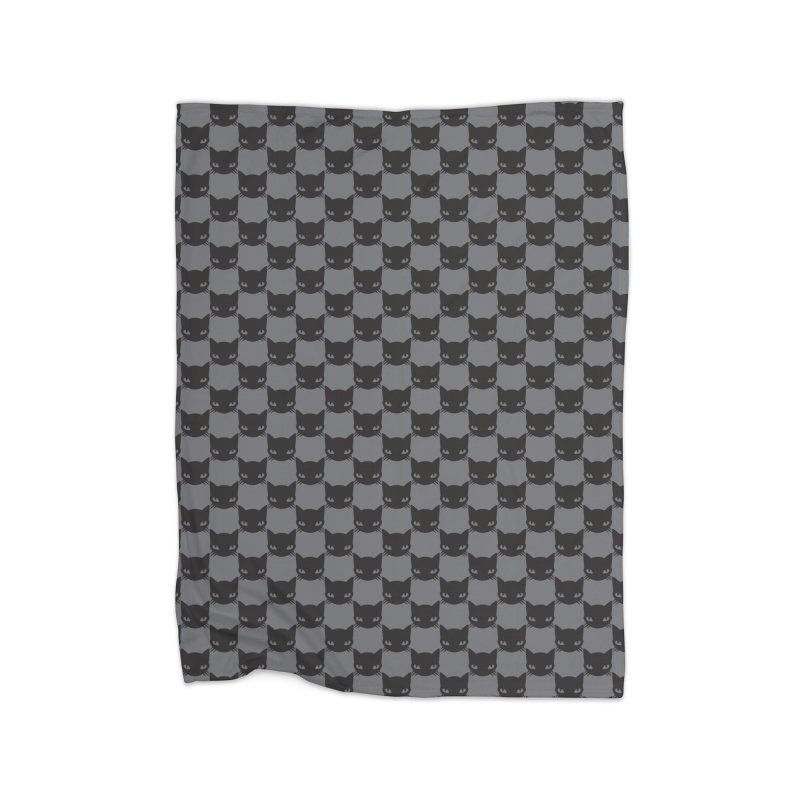 #KITTYCHEX GREY/BLACK Home Fleece Blanket Blanket by Emily the Strange OFFICIAL