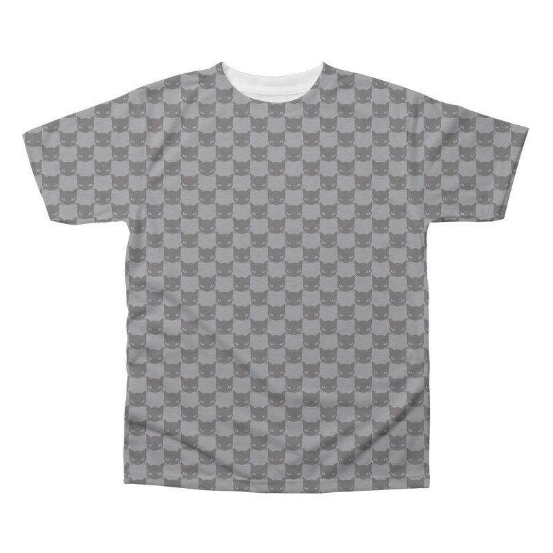 #KITTYCHEX GREY/BLACK Men's Triblend All Over Print by Emily the Strange OFFICIAL