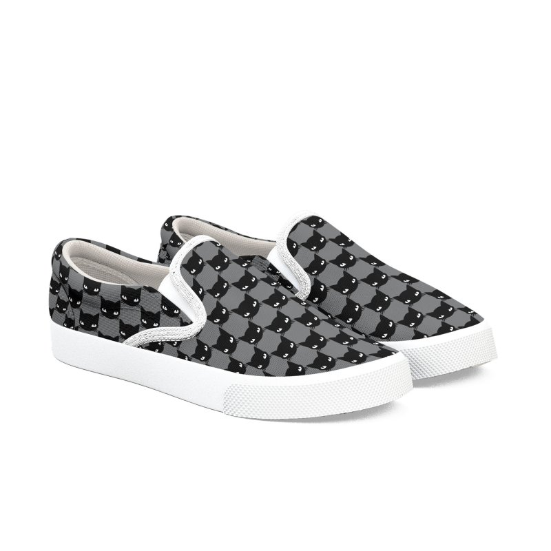 #KITTYCHEX GREY/BLACK Men's Slip-On Shoes by Emily the Strange OFFICIAL