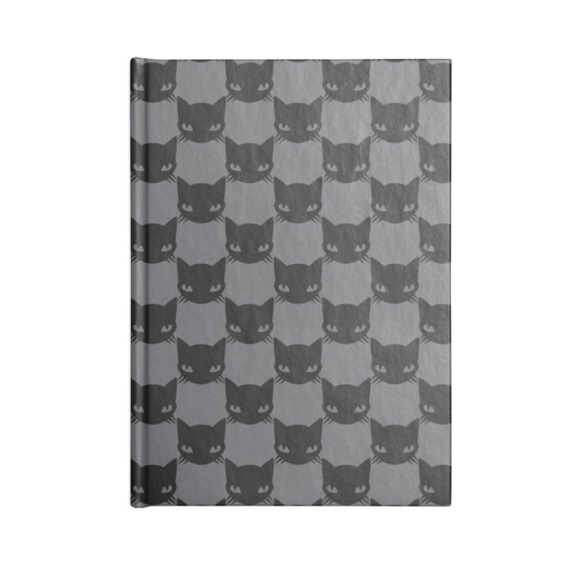 #KITTYCHEX GREY/BLACK Accessories Lined Journal Notebook by Emily the Strange OFFICIAL