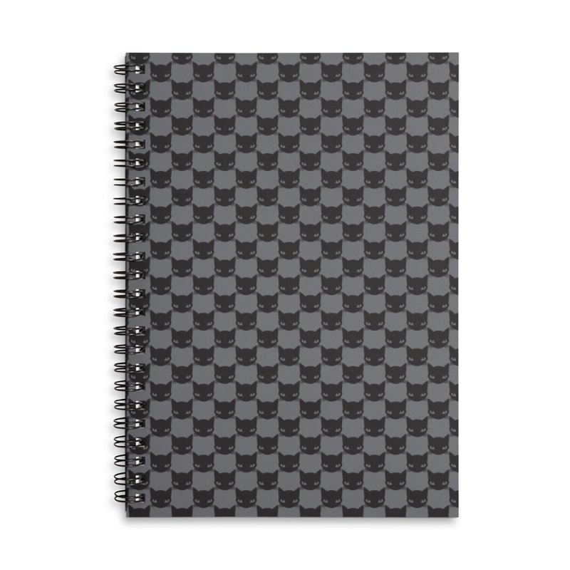#KITTYCHEX GREY/BLACK Accessories Lined Spiral Notebook by Emily the Strange OFFICIAL