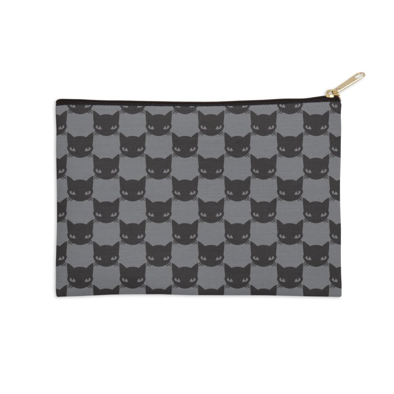 #KITTYCHEX GREY/BLACK Accessories Zip Pouch by Emily the Strange OFFICIAL