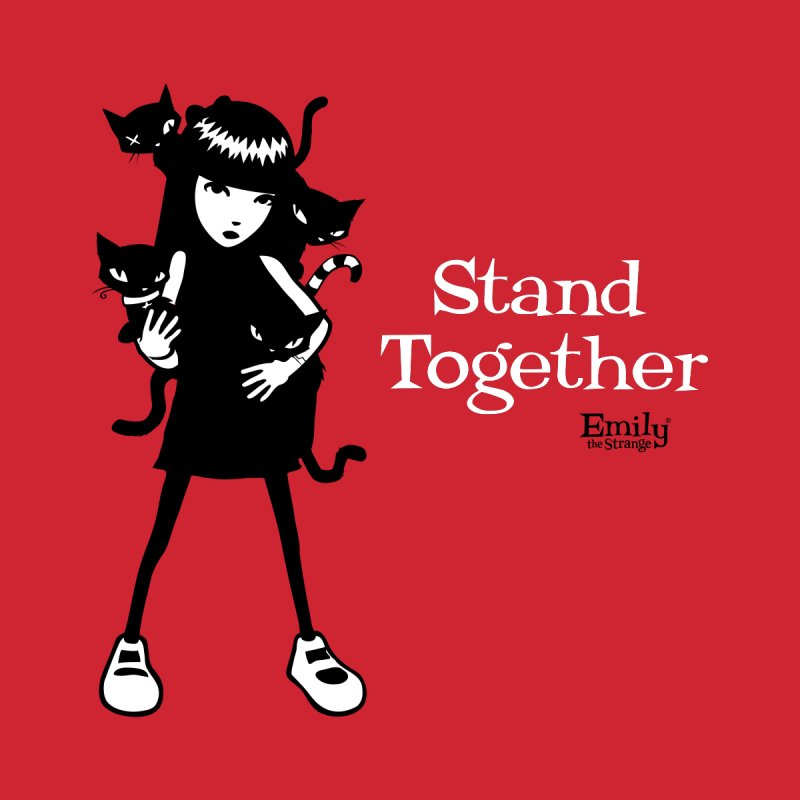 Stand Together Men's Pullover Hoody by Emily the Strange Official