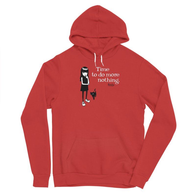 Time to do more nothing Men's Pullover Hoody by Emily the Strange Official