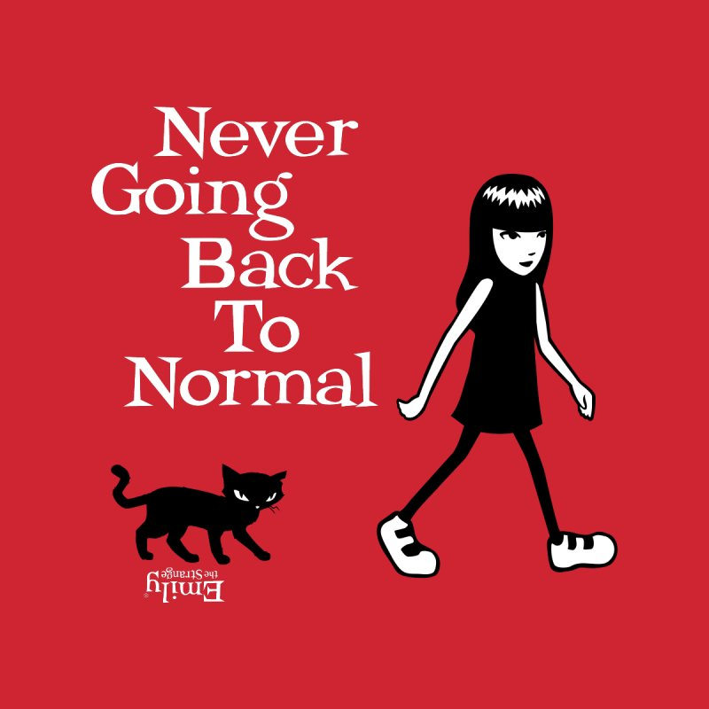 Never Going Back To Normal Women's Pullover Hoody by Emily the Strange Official