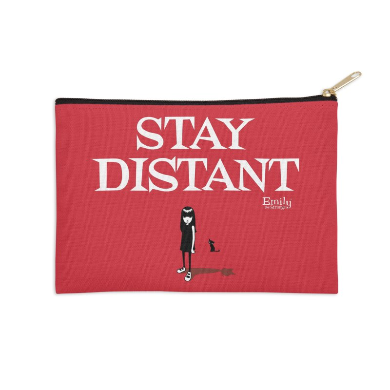 Stay Distant Accessories Zip Pouch by Emily the Strange Official