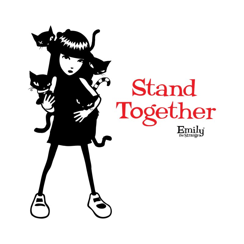 Stand Together Men's T-Shirt by Emily the Strange Official