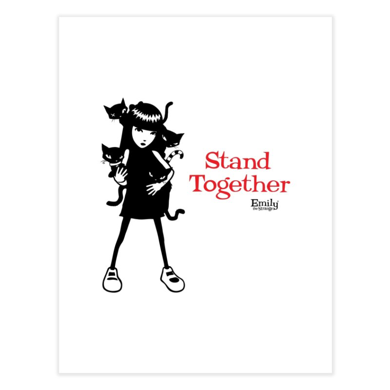 Stand Together Home Fine Art Print by Emily the Strange Official