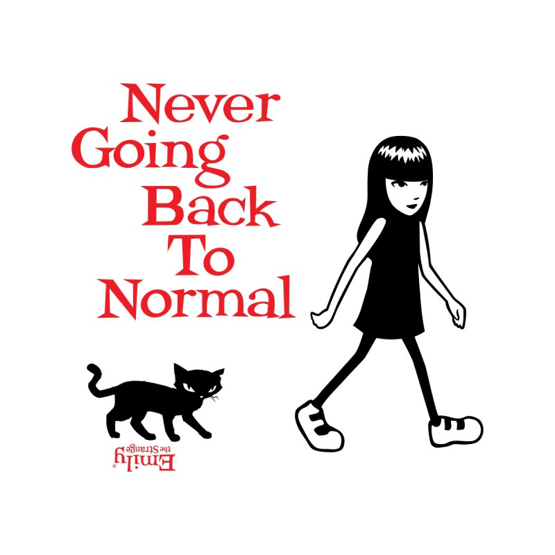 Never Going Back To Normal Men's Pullover Hoody by Emily the Strange Official