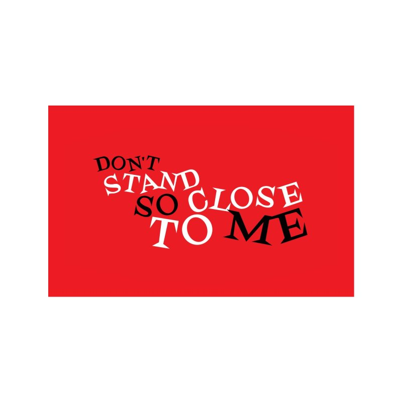 Don't Stand So Close To Me (Red) Accessories Face Mask by Emily the Strange Official
