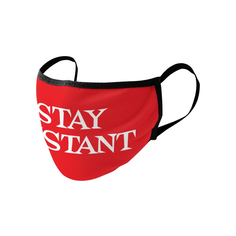 Stay Distant (Red) Accessories Face Mask by Emily the Strange Official