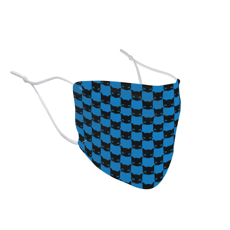 Blue Kittychex Accessories Face Mask by Emily the Strange Official