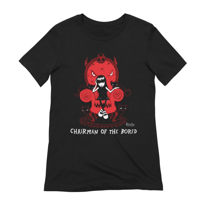 Chairman Of The Bored Women's T-Shirt by Emily the Strange Official