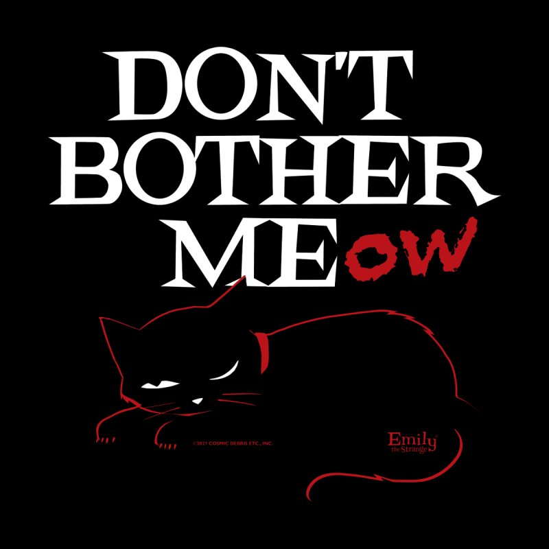 Don't Bother Meow (Black) Men's T-Shirt by Emily the Strange Official