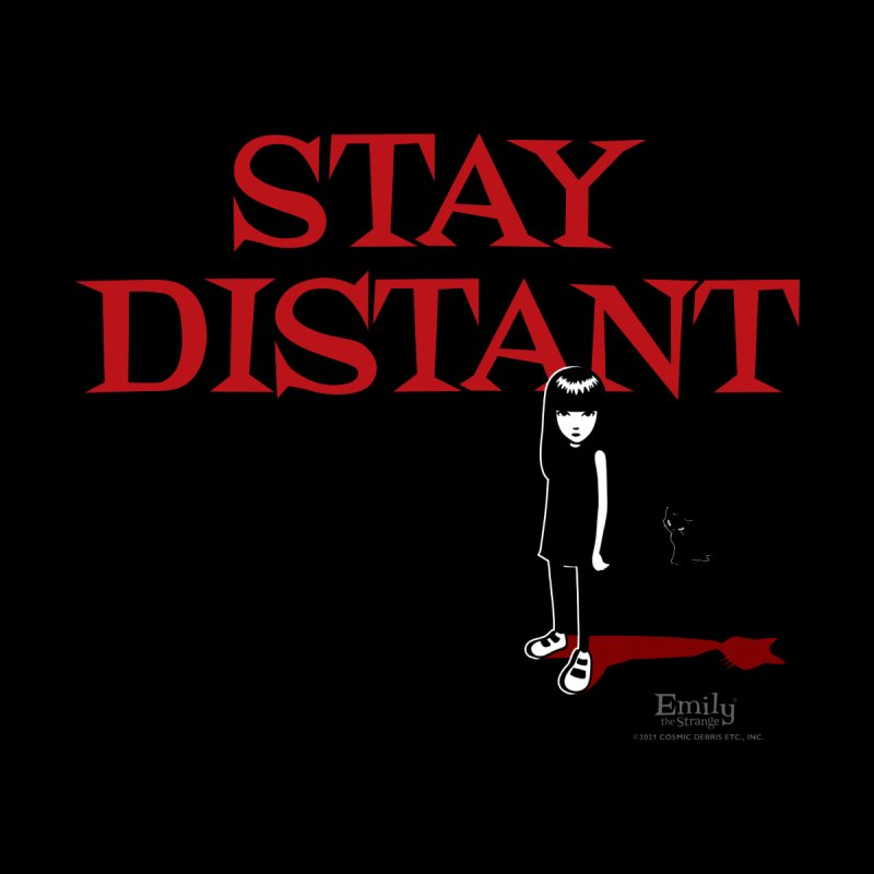 Stay Distant (Black) Men's T-Shirt by Emily the Strange Official