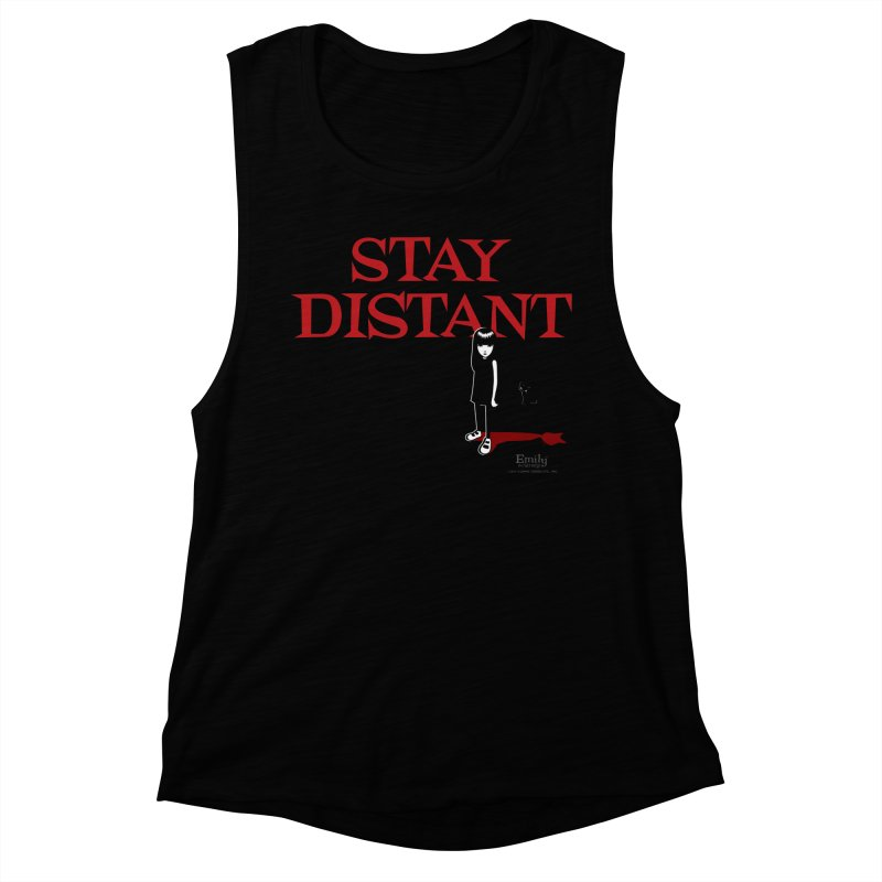 Stay Distant (Black) Women's Tank by Emily the Strange Official