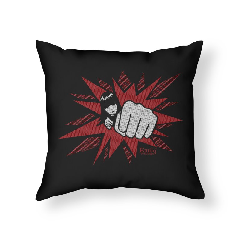 Emily Wham Bam Home Throw Pillow by Emily the Strange Official