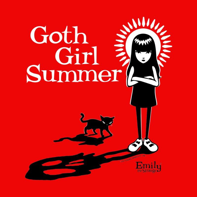 Goth Girl Summer -Red Men's T-Shirt by Emily the Strange Official