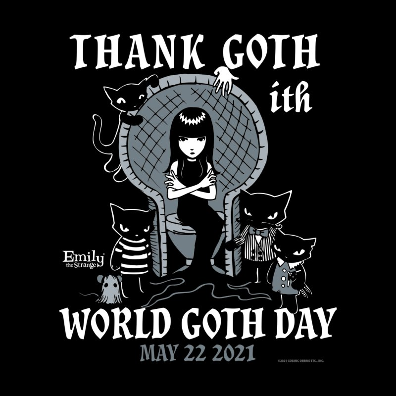 Thank Goth Ith World Goth Day Women's Pullover Hoody by Emily the Strange Official