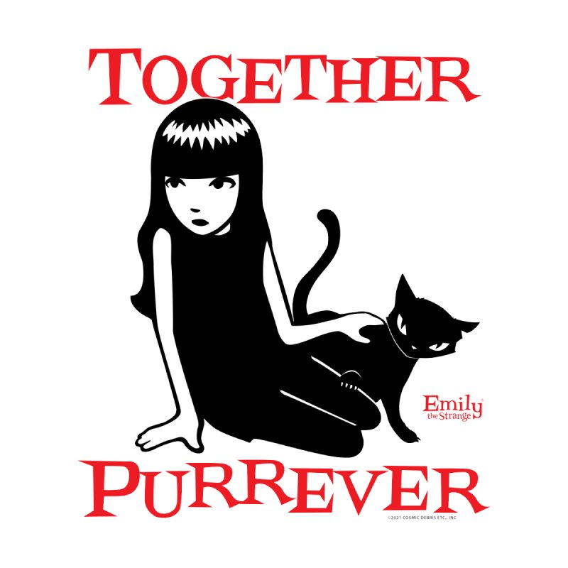Together Purrever (White) Women's T-Shirt by Emily the Strange Official