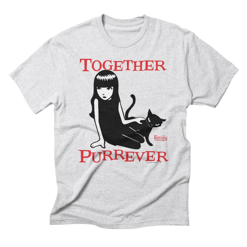 Together Purrever (White) Men's T-Shirt by Emily the Strange Official