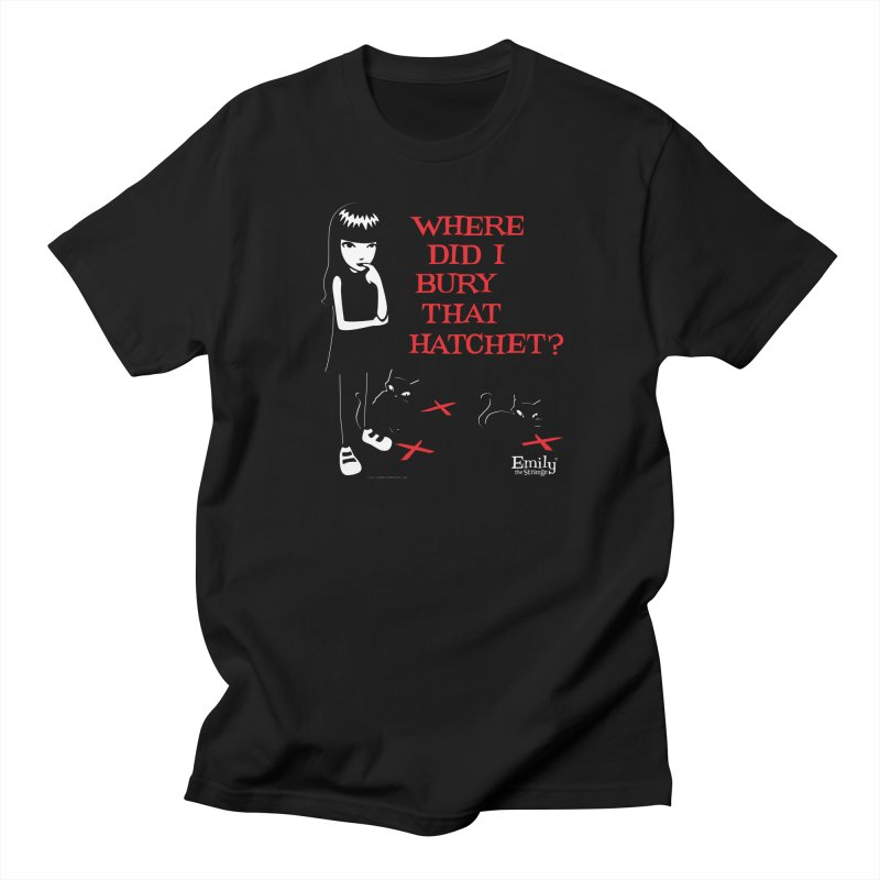 Where Did I Bury That Hatchet? Men's T-Shirt by Emily the Strange Official
