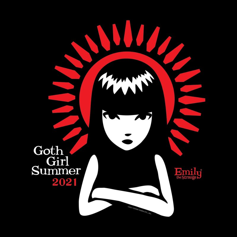 Goth Girl Summer Coffin Halo (Text) Men's T-Shirt by Emily the Strange Official
