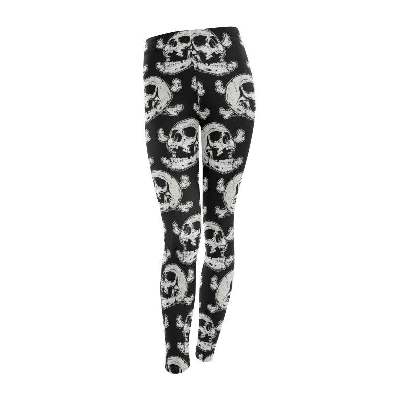 Rock-N-Skull Women's Leggings Bottoms by EngineHouse13's Artist Shop