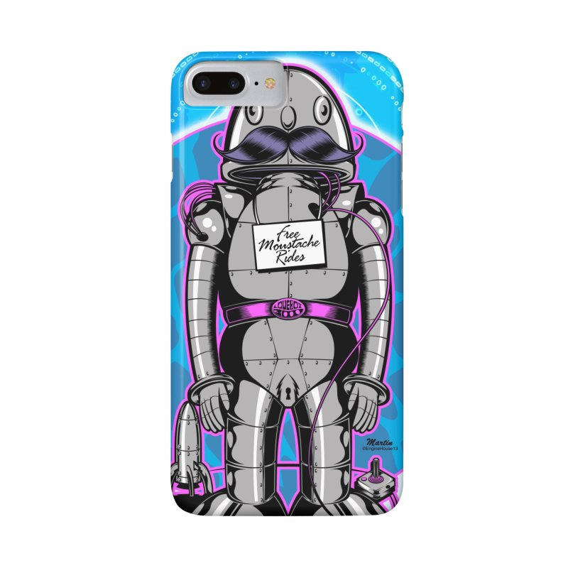 Mustache Rides in iPhone 7 Plus Phone Case Slim by EngineHouse13's Artist Shop