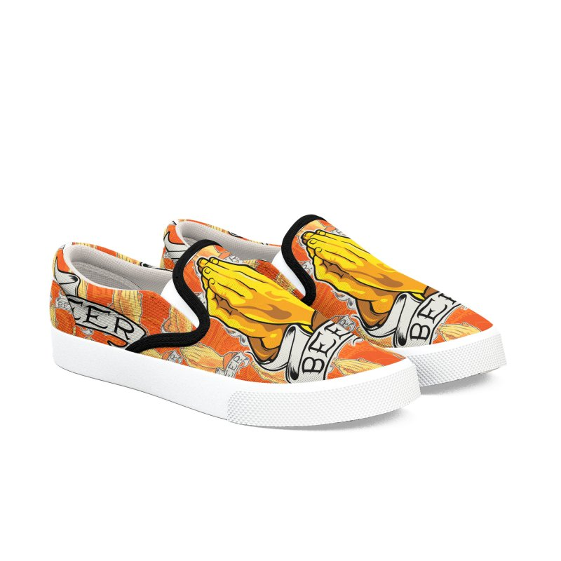 Pray For Beer Women's Slip-On Shoes by EngineHouse13's Artist Shop