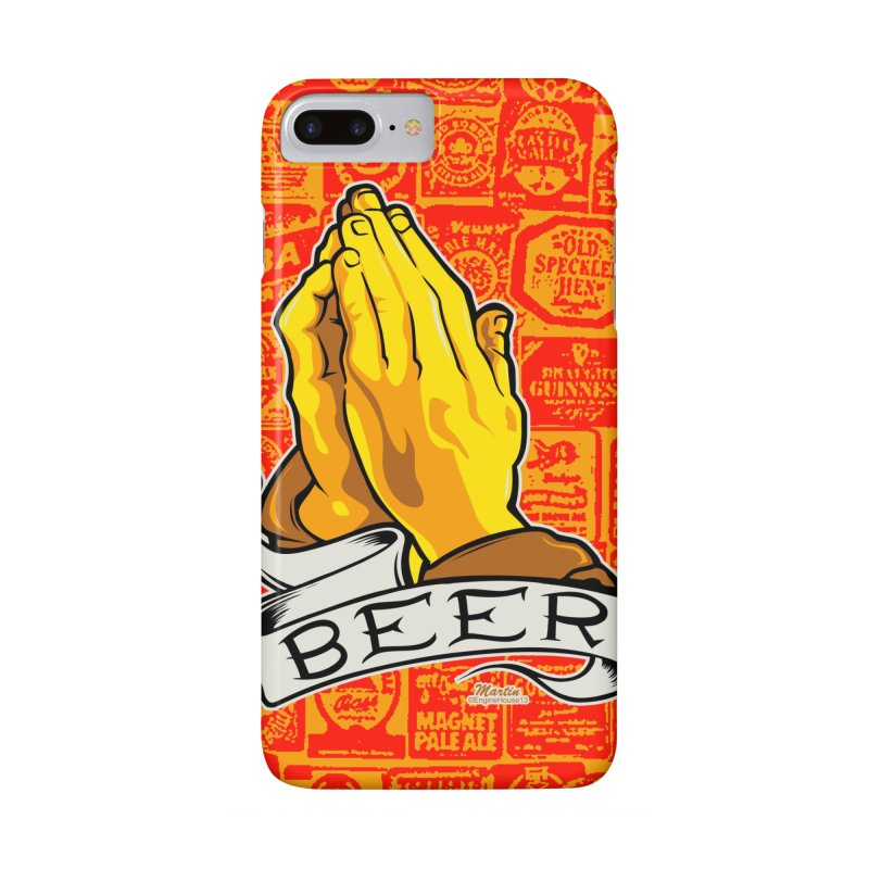 Pray For Beer in iPhone 7 Plus Phone Case Slim by EngineHouse13's Artist Shop