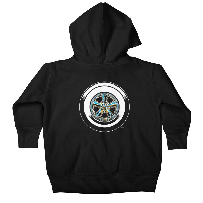 Wide Whites Kids Baby Zip-Up Hoody by EngineHouse13's Artist Shop
