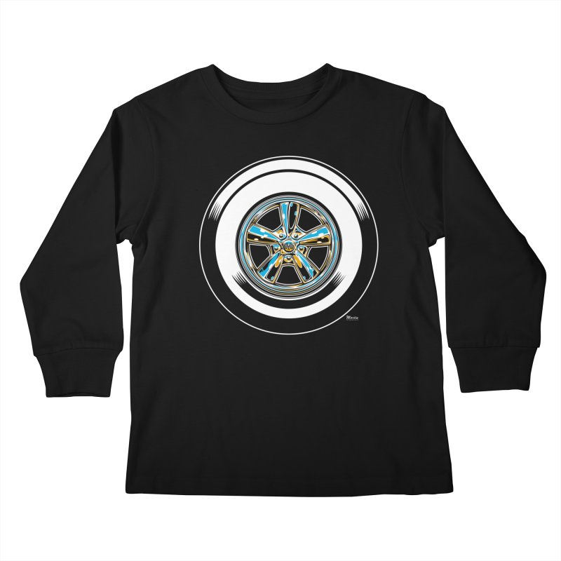Wide Whites Kids Longsleeve T-Shirt by EngineHouse13's Artist Shop